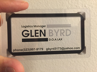 printed plastic business card