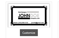 customize your plastic business card