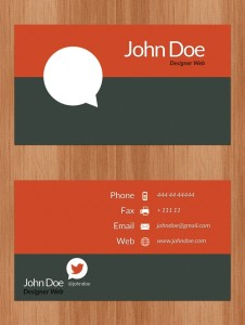 comment business card