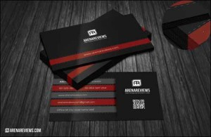 black modern business card
