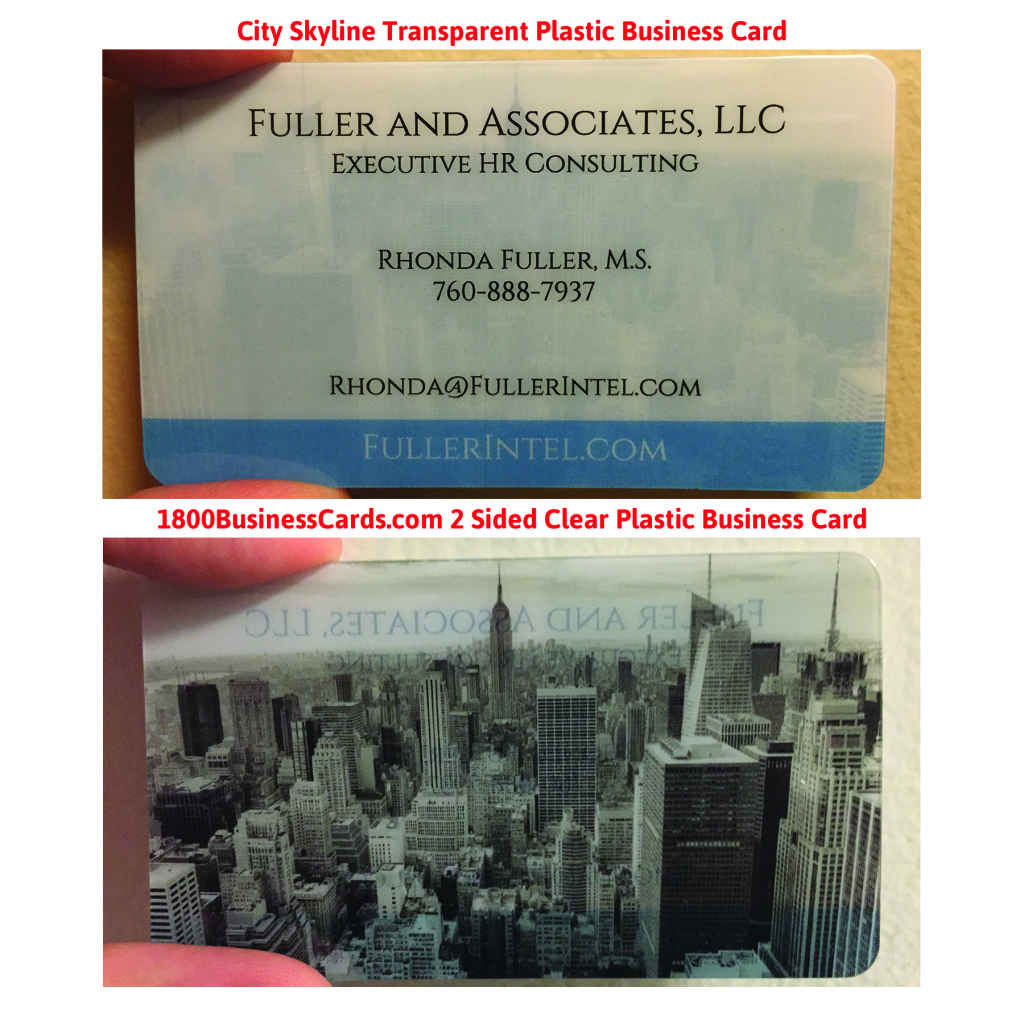 City Landscape Plastic Business Card 12-25
