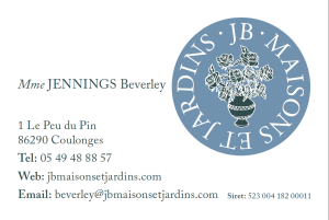french business card