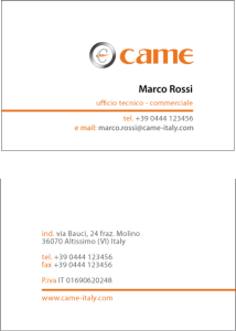 italian business card