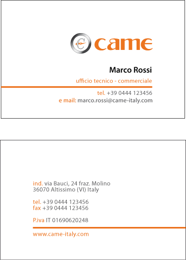 Business cards a universal language the printing corner italian business card colourmoves