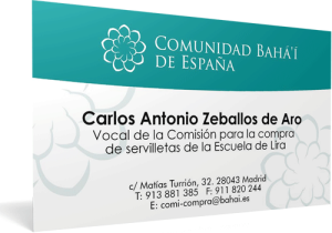 spain business card