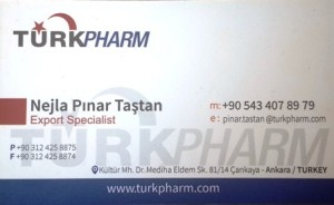 turkey business card