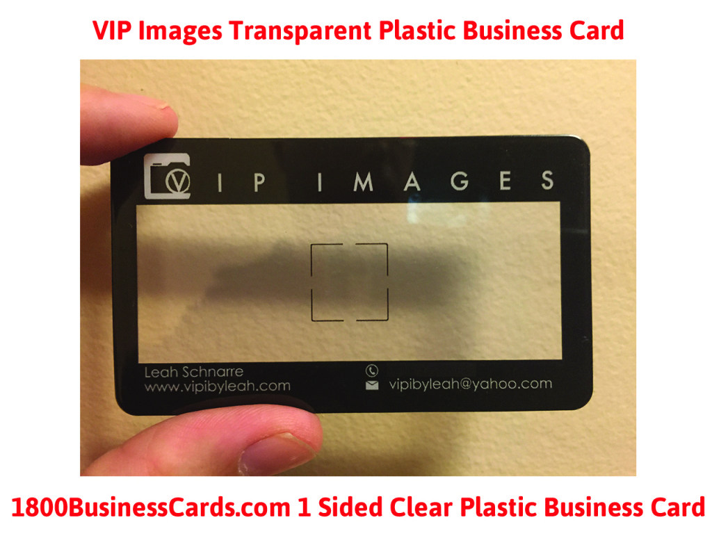 plastic business card of the week vip img