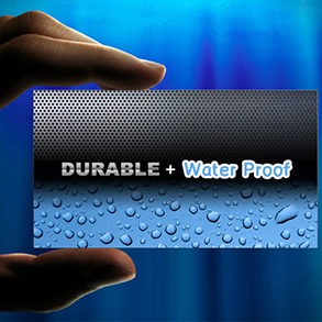 Waterproof Business Cards