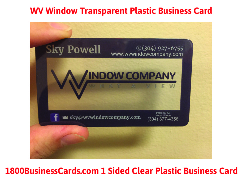 Plastic Business Card of the Week WV Window
