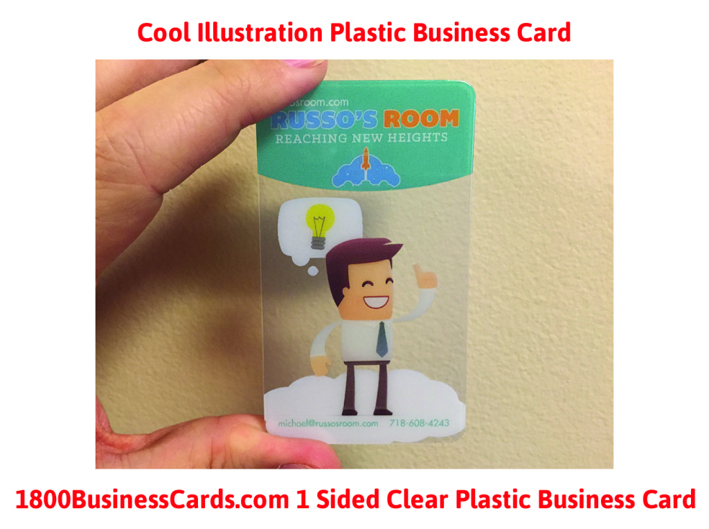 Cool Character Clear Plastic Business Card