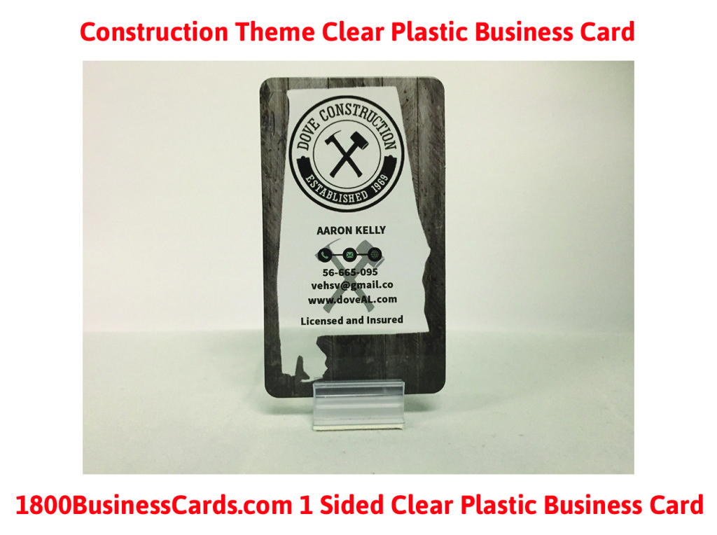 Construction Plastic Business Cards