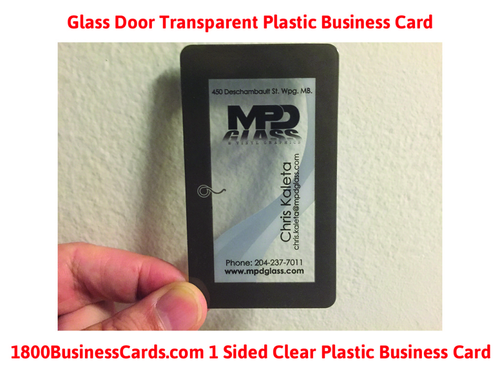 Clear Plastic Business Cards GD