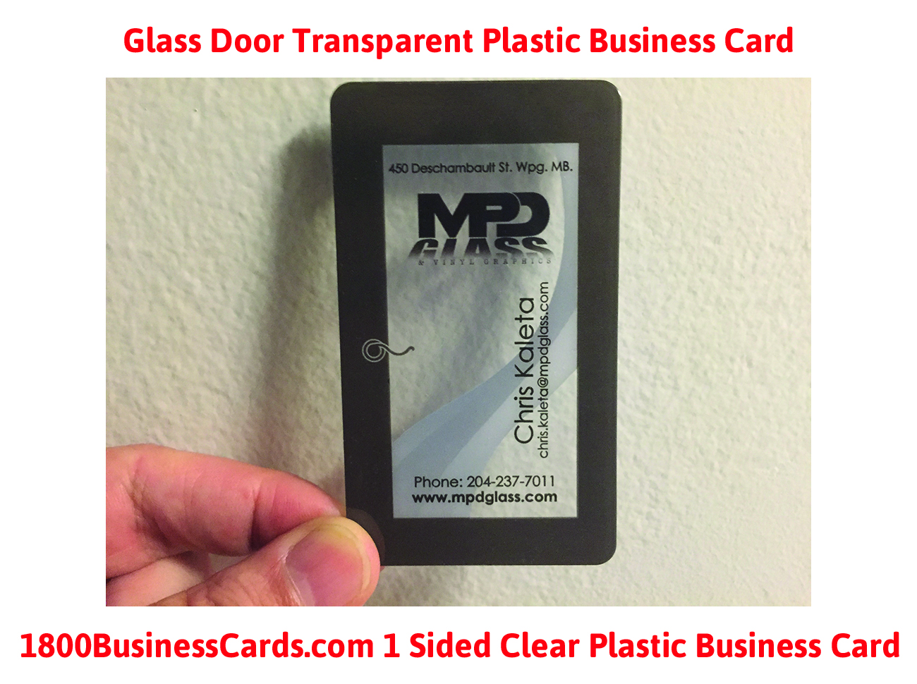 Colorful transparent plastic business cards festooning business plastic business card of the week glass door the printing corner reheart Image collections