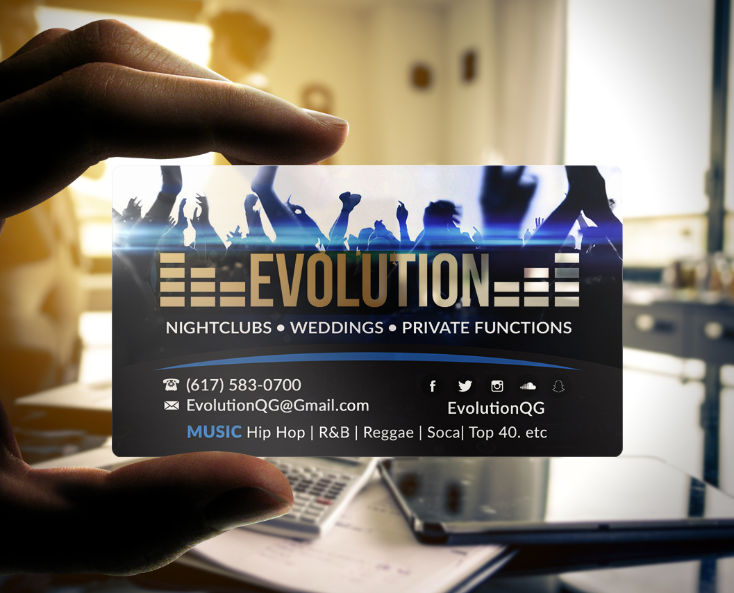 Plastic business card of the week evolution the printing corner dj plastic business card colourmoves