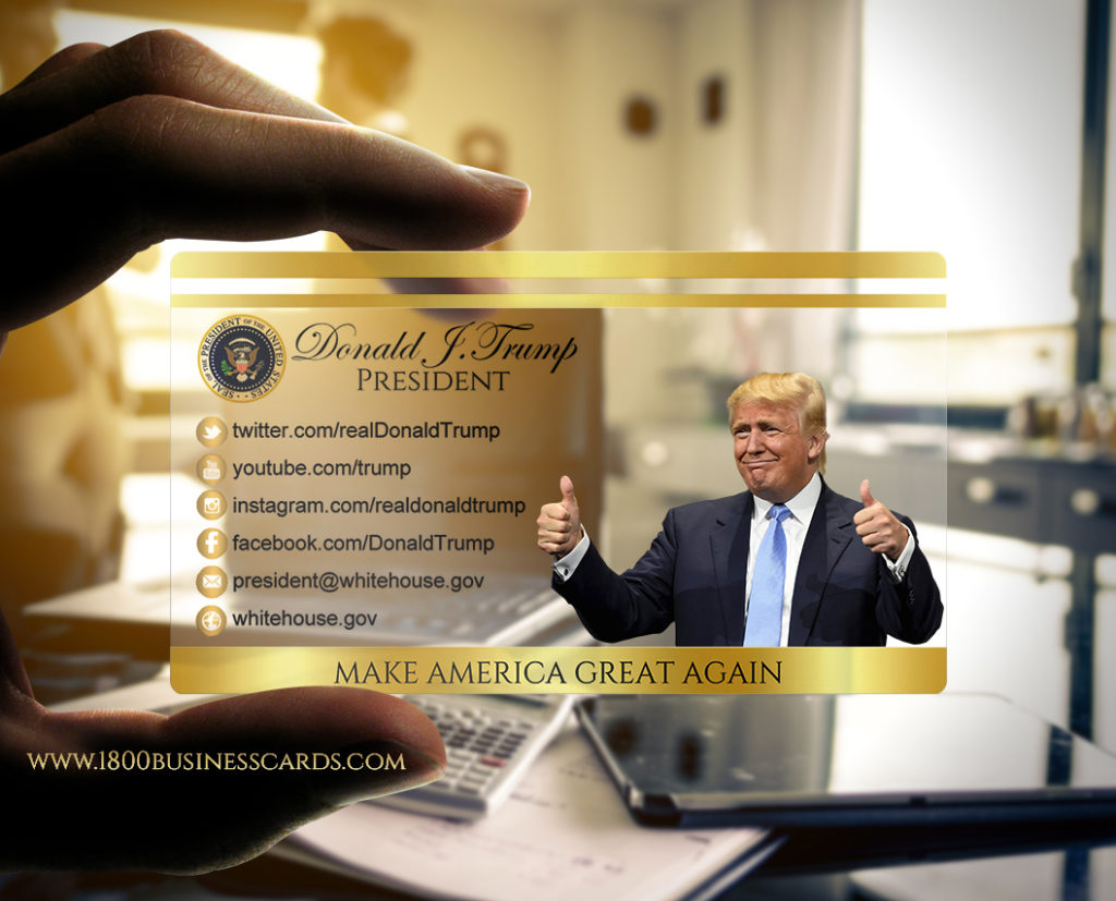 Donald Trump Presidential Business Card