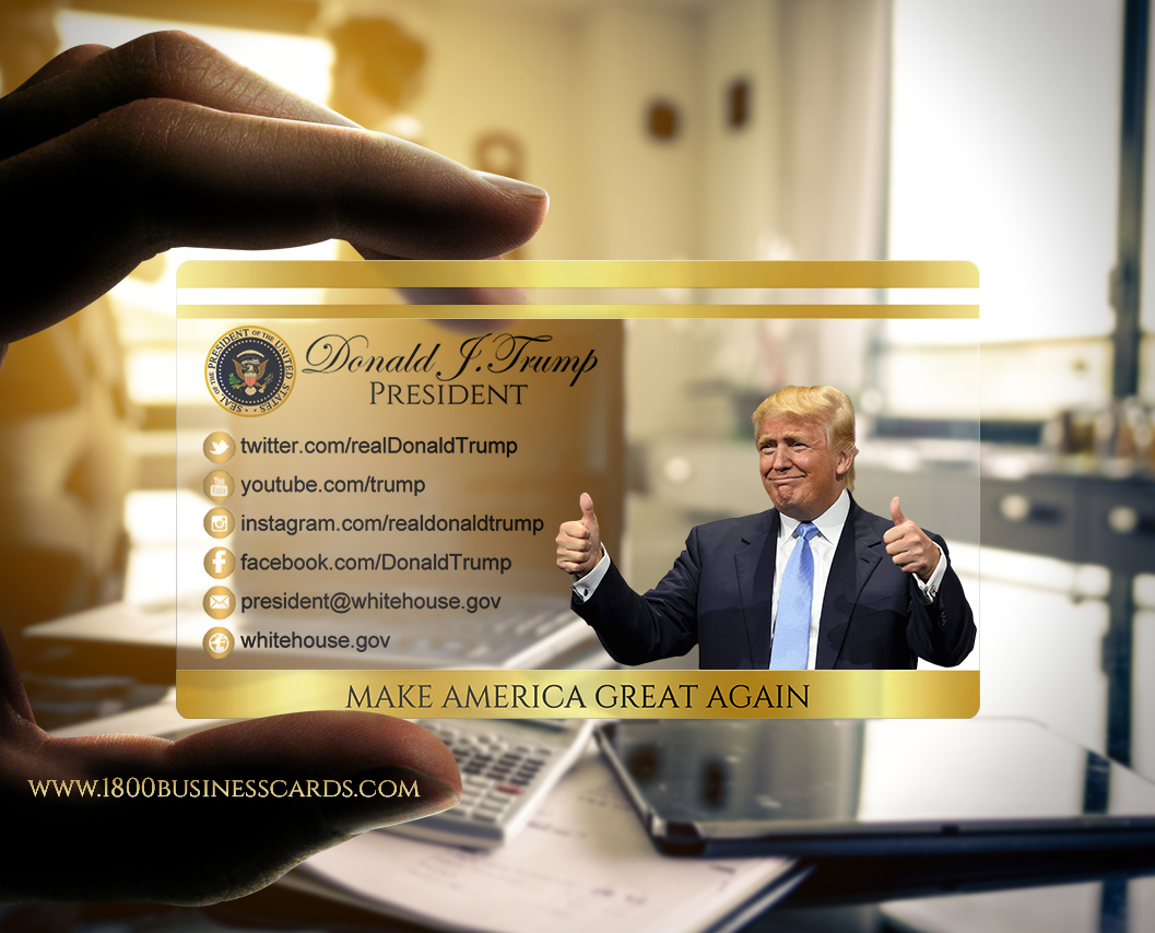 Donald Trump Presidential Business Card The Printing Corner
