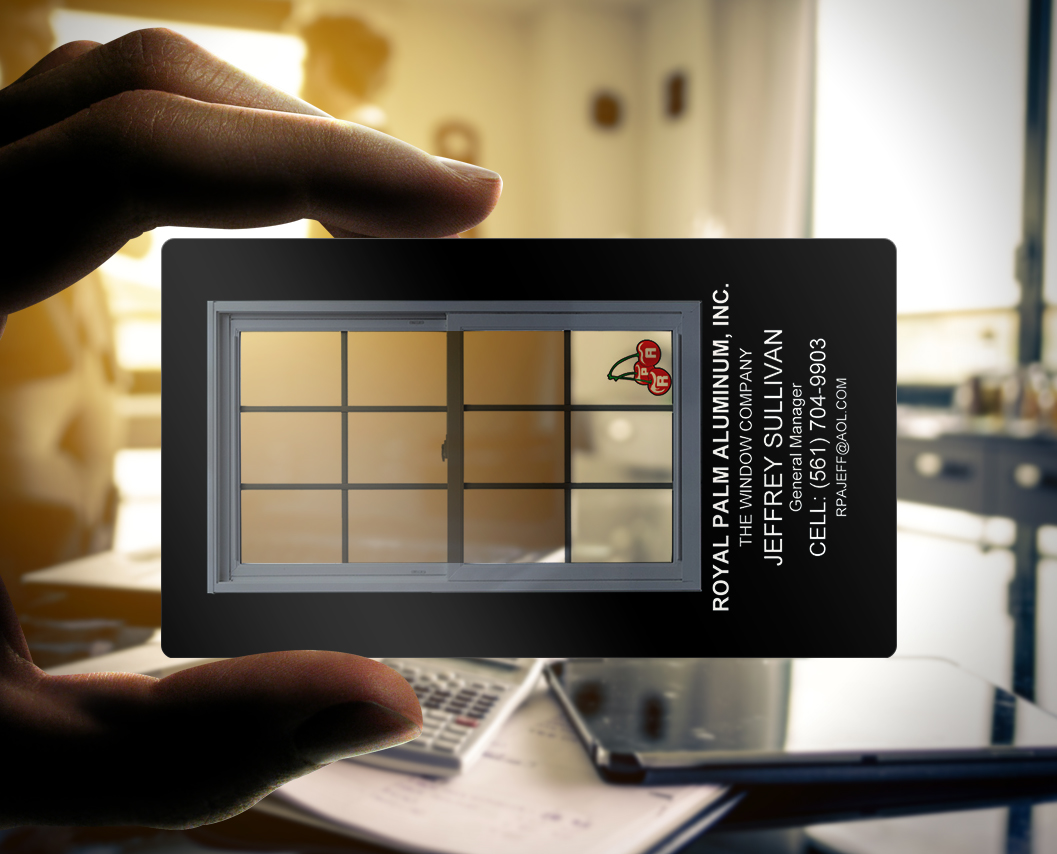Plastic business card of the week window panes the for Window door company