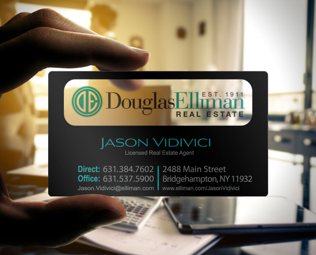 Real Estate Transparent Business Cards