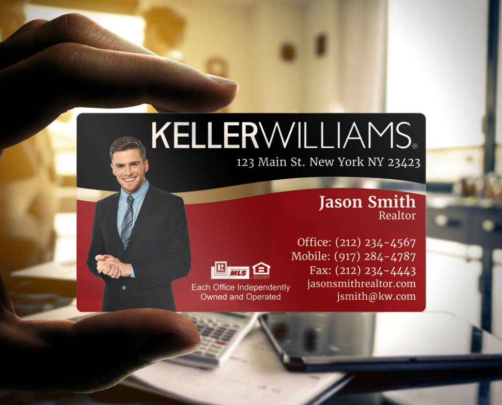 Plastic business cards the choice for realtors the printing corner keller williams plastic business card colourmoves Images