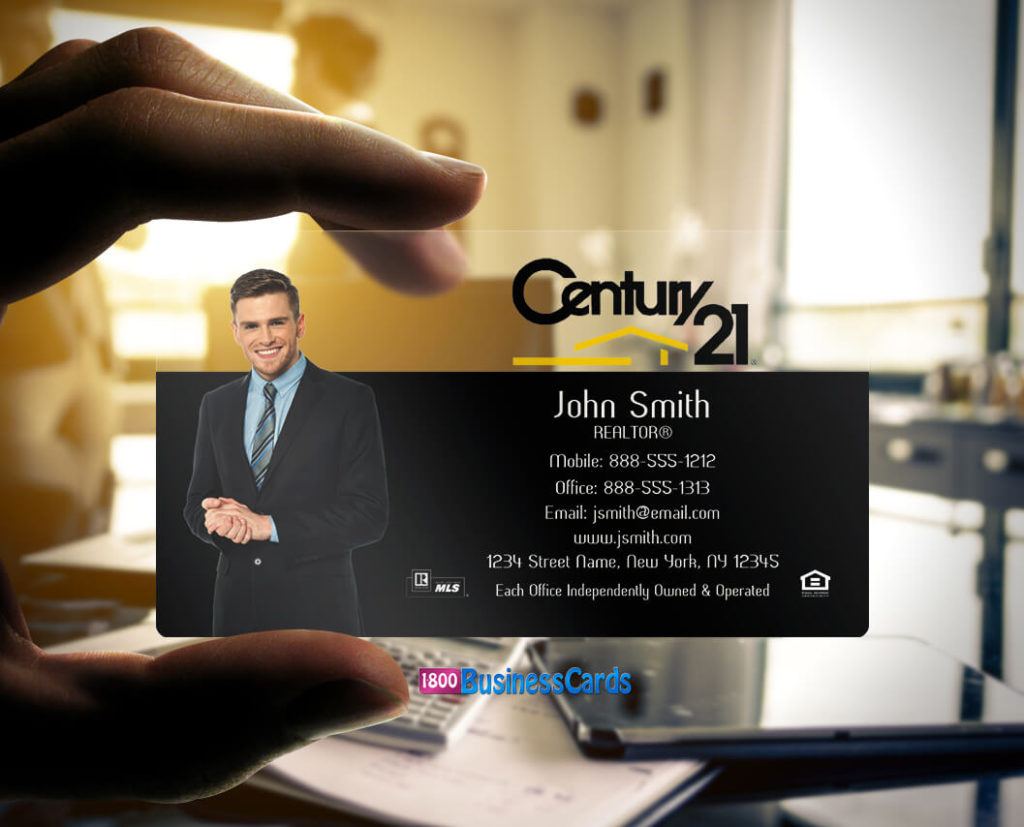 Century 21 Plastic Business Card