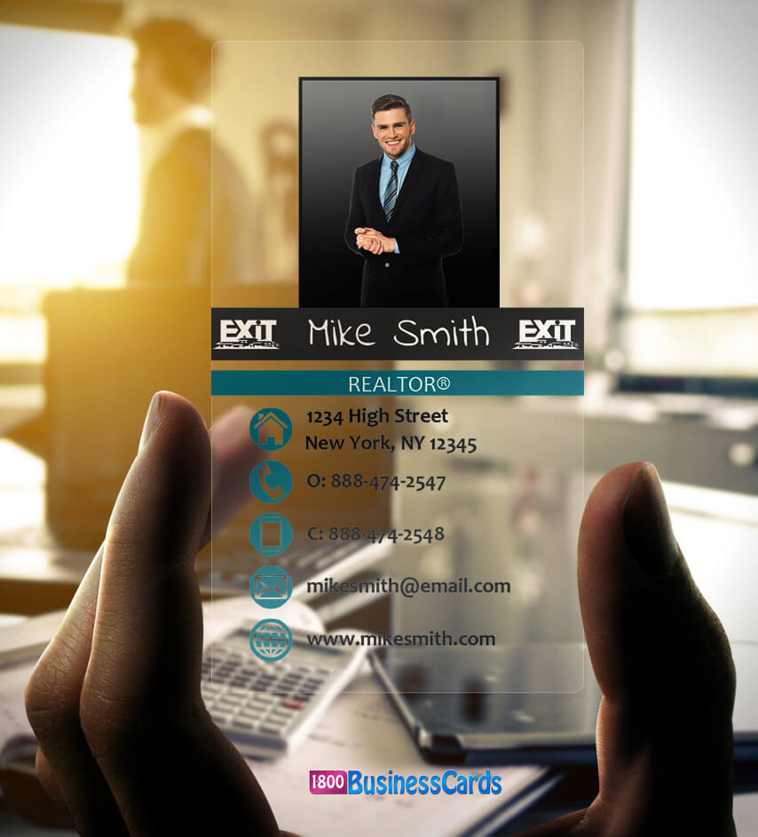 Exit Realty Plastic Business Card