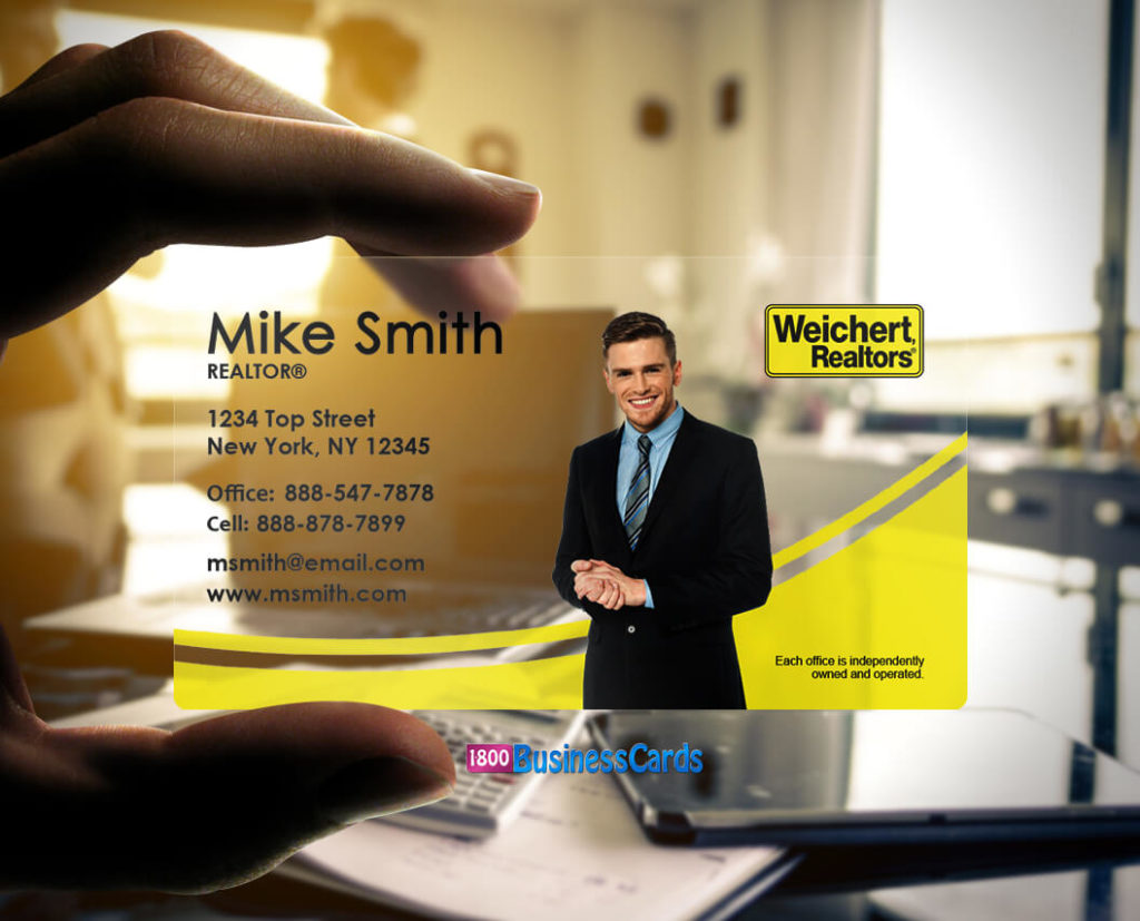 Weichert Realtors Plastic Business Card