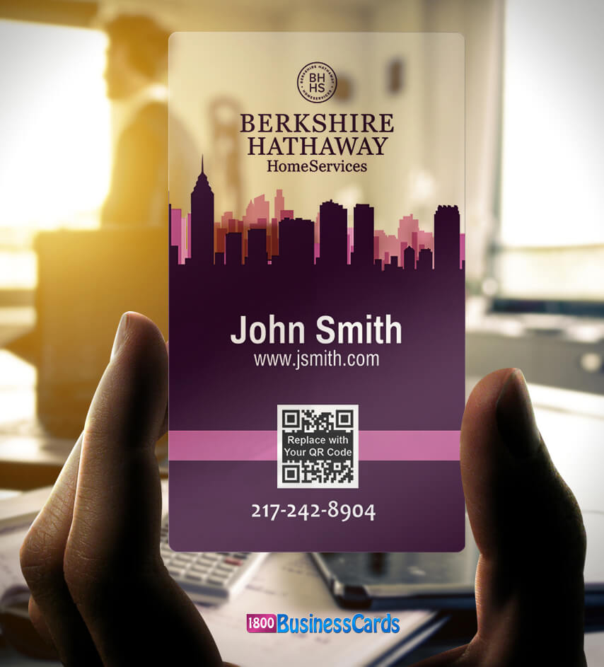 Top 10 real estate plastic business cards the printing corner berkshire hathaway plastic business card colourmoves