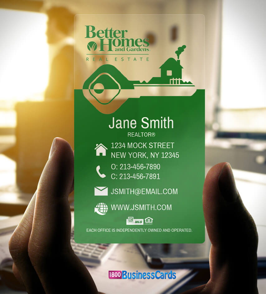 Better Homes & Gardens Plastic Business Card