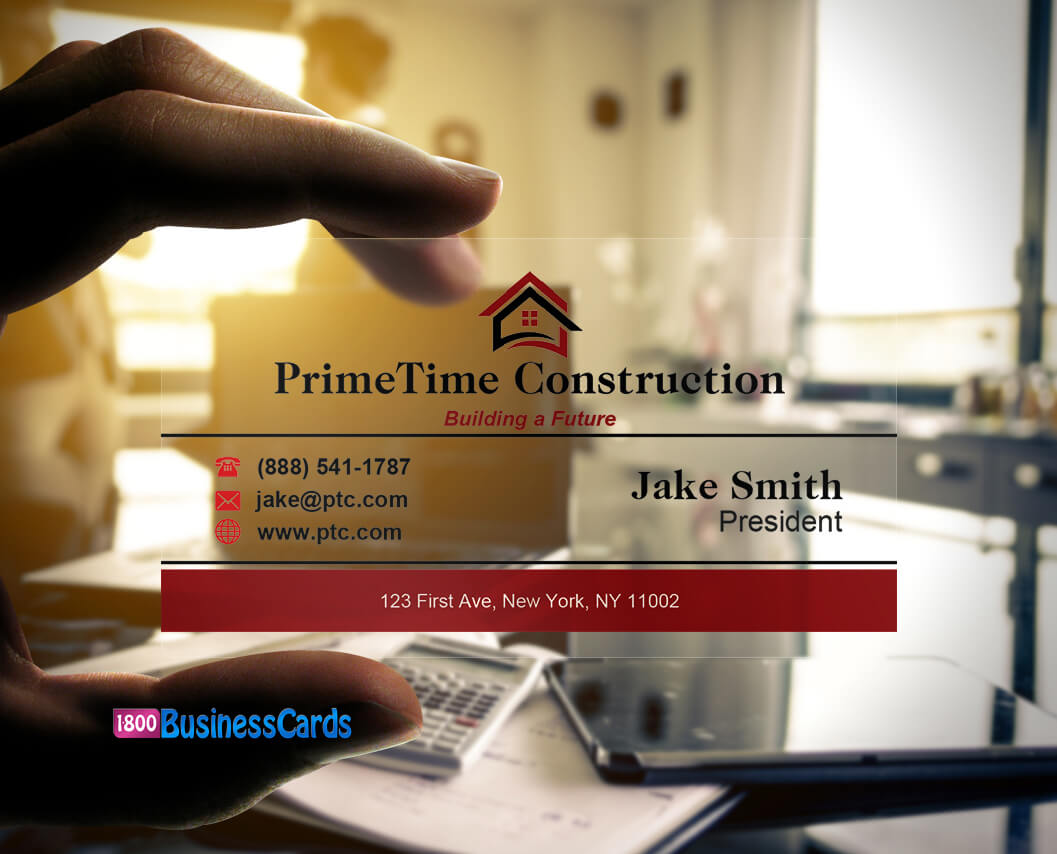 Home Builders Plastic Business Card