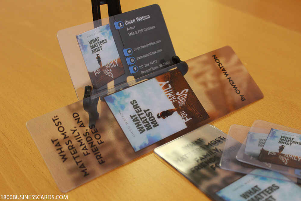 Author Transparent Business Cards