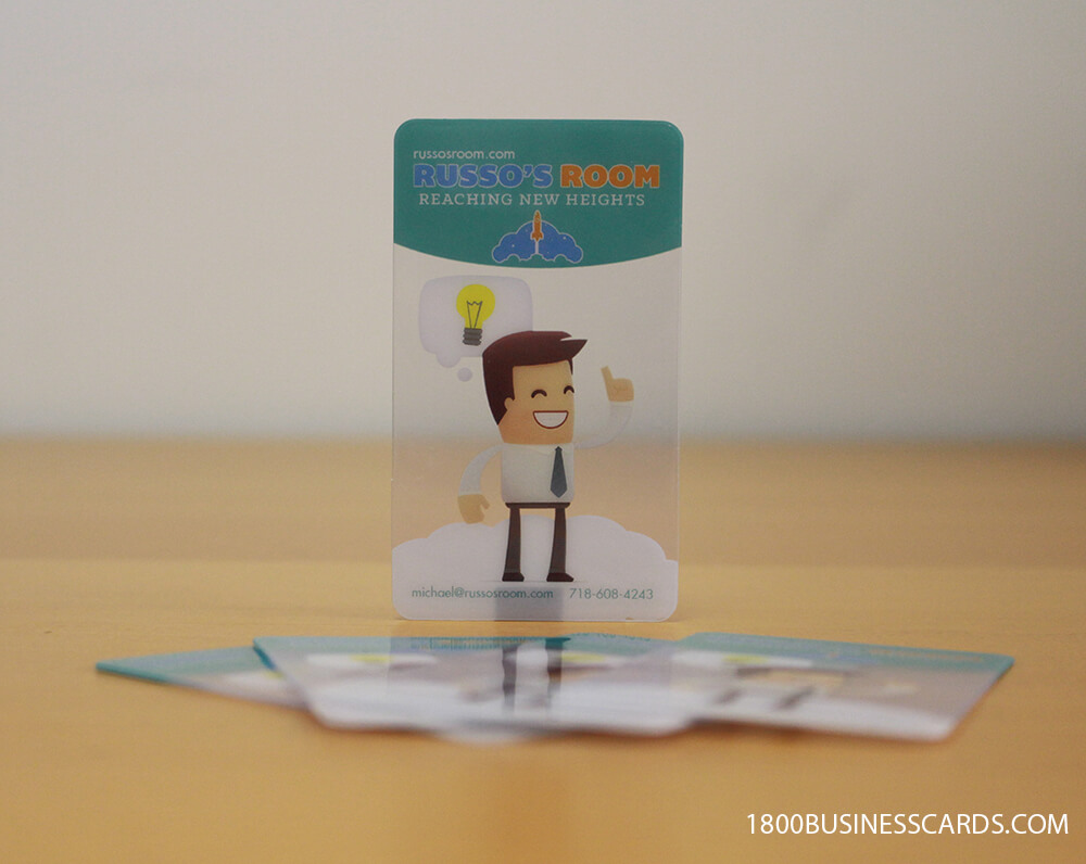 Cartoon Clear Business Card