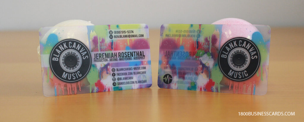 DJ Plastic Business Cards