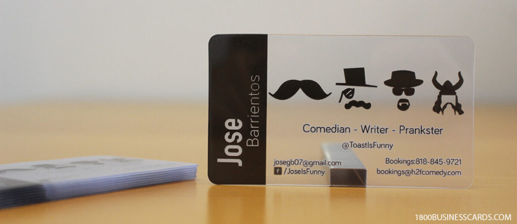Mustache Translucent Business Cards