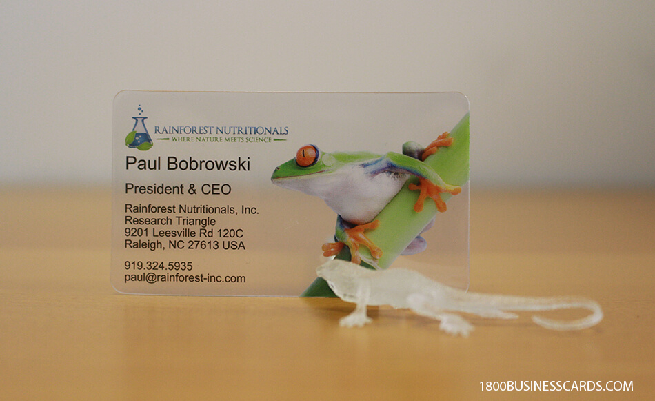 Science Translucent Business Card