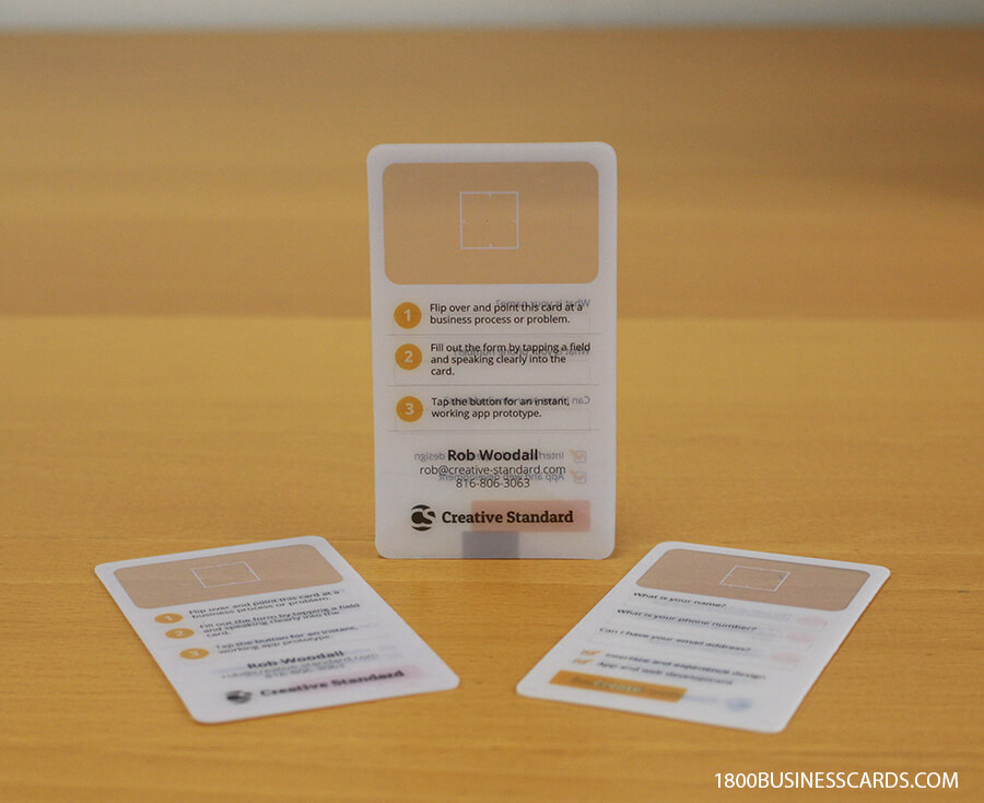 View Finder Clear Business Cards